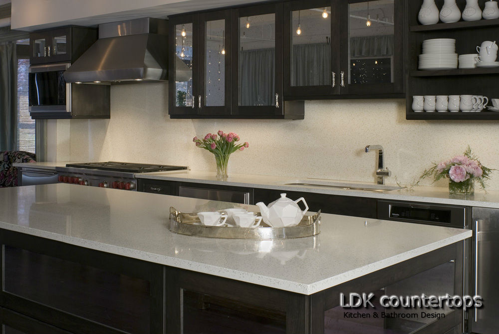 White Quartz Countertops : Kitchen countertops chicago archives ldk