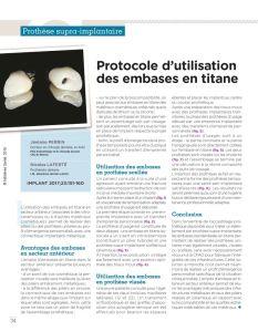 thumbnail of Protocole d'utilisaion des embases en titane