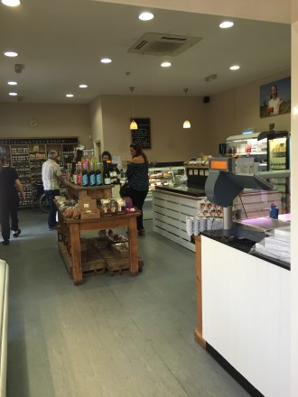 The farm shop sells home-grown or locally sourced produce
