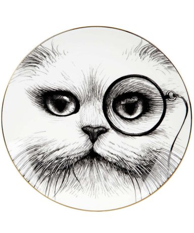 Rory Dobner Large Monocle Cheshire Cat Perfect Plate