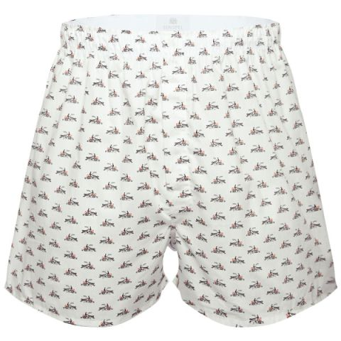 Sunspel Men's Seasonal Boxers - Horse & Cart