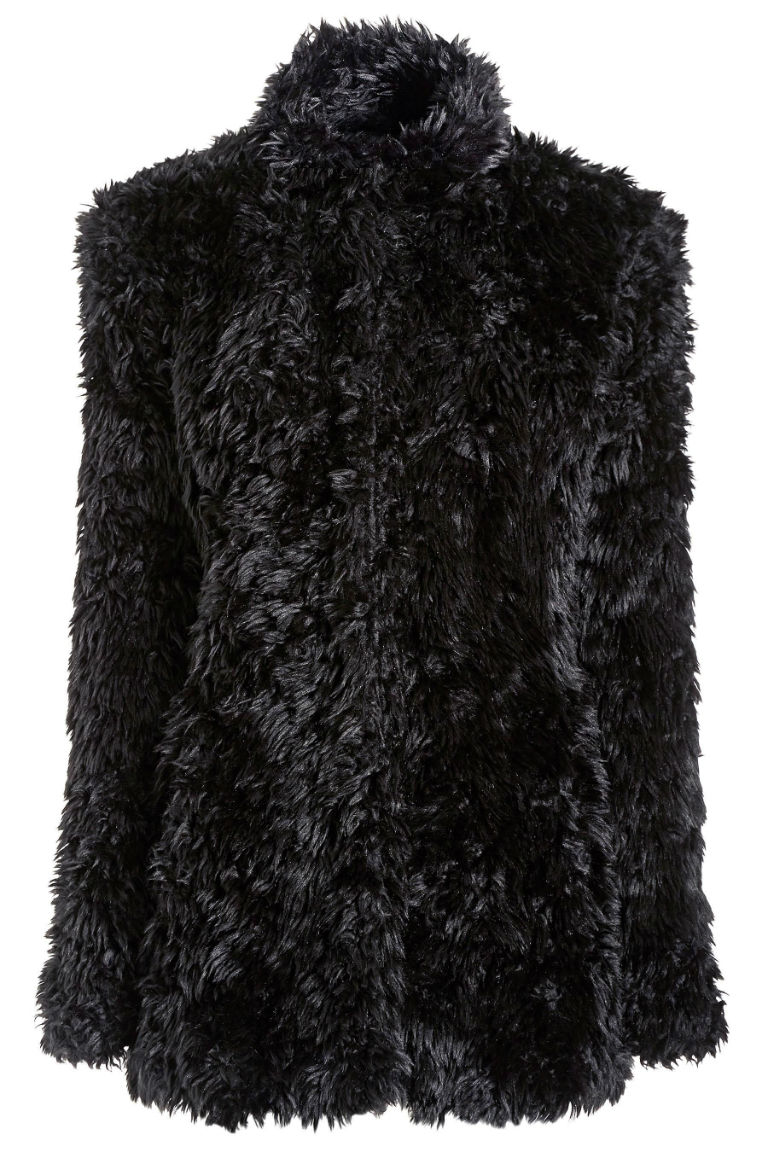 10 - Next Black Soft Faux Fur Jacket £75
