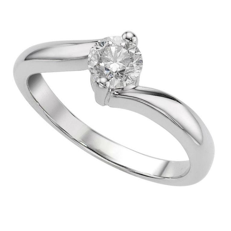 1 - 18 carat white gold engagement ring