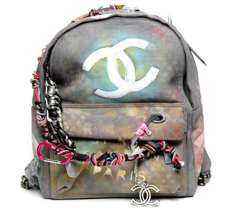 4. Chanel Graffiti Backpack