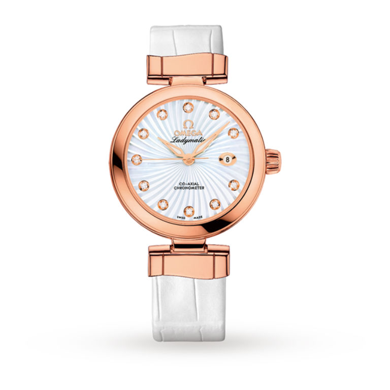 Omega De Ville Ladymatic Rose Gold Ladies Watch
