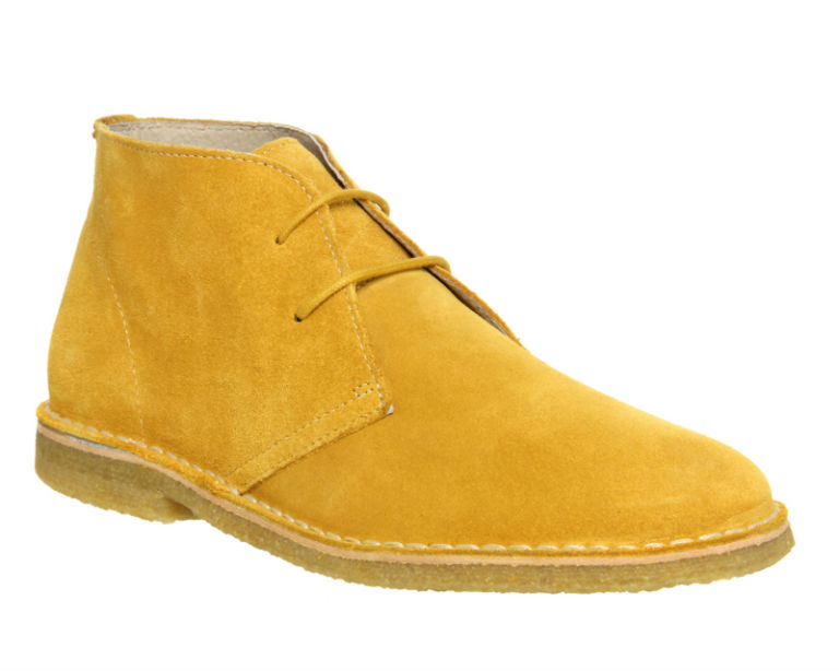Ask the Missus Mustard Suede Cookie Desert Boot