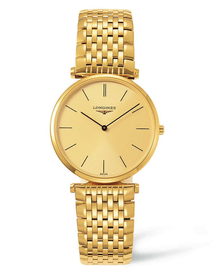 Longines La Grande Classique men's gold-tone bracelet watch