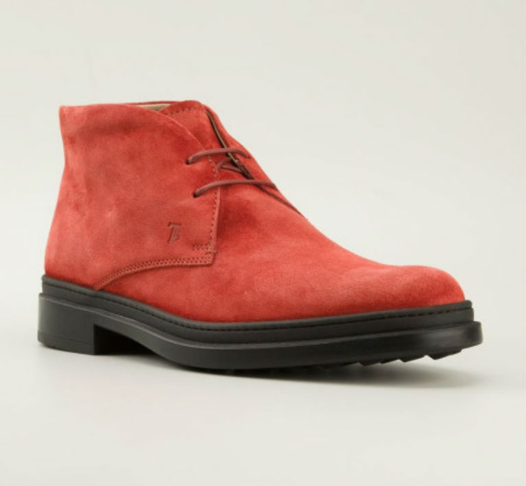 Tod's Classic Orange Desert Boot