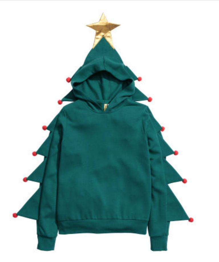 Christmas Tree Hooded Jumper