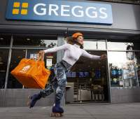 Just Eat and Greggs trial roller-skating delivery service in London 93