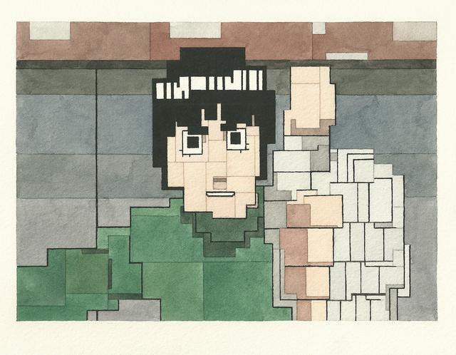 # 這些水彩畫作要瞇著眼睛看: Adam Lister 汲取藝術作及流行文化的8位元水彩作品 11