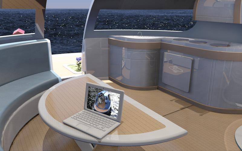 # 幽浮海上漂!:Jet Capsule的浮動海上空間 6