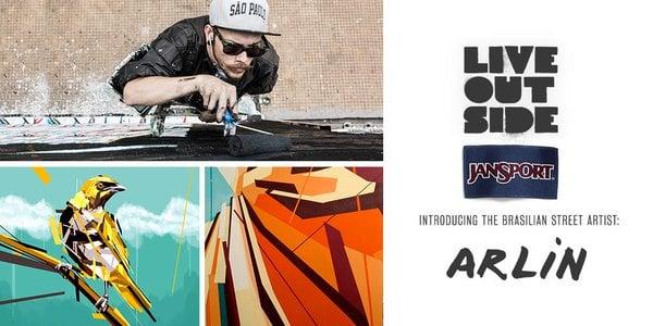 # 將大師級作品跟著自己走 :JanSport X Arlin 聯名推出亞洲限定款「Right Pack Street」 1