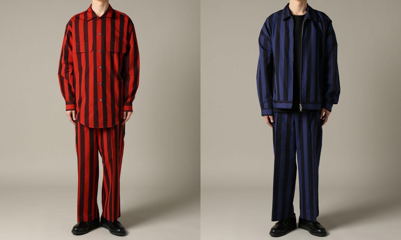 # 成套的 ONE TONE 紅藍魅力:BIG PATERN RED WIDE & WIDE HICKORY BLS 6