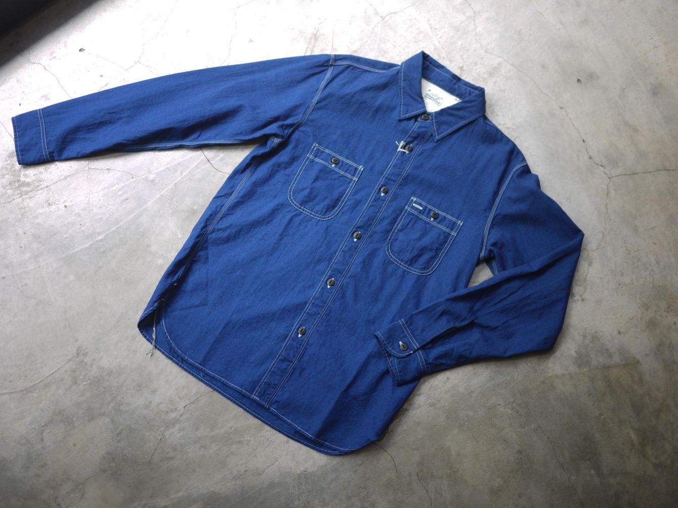 Classic Works:【我的探索之路-Burgus Plus Lot.300 Beta Chambray Work Shirt 】 9
