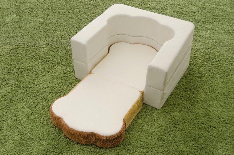 # 悠懶睡在麵包上:來自日本製的純手工「Pan Bread」沙發床 5