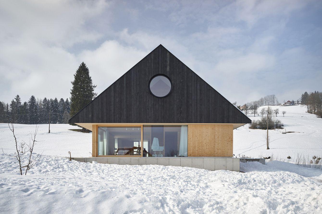 # House With Gable:位於奧地利山區的極簡風格住宅 1