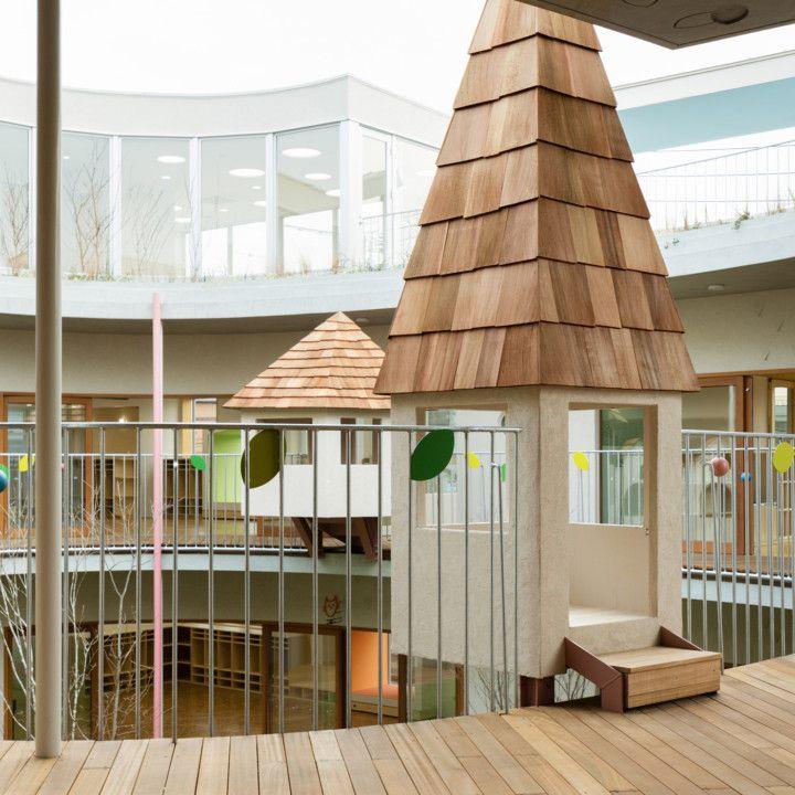 # 宛如童話風格的迷你運動場:日本東京的友の季ひまわり幼稚園 7