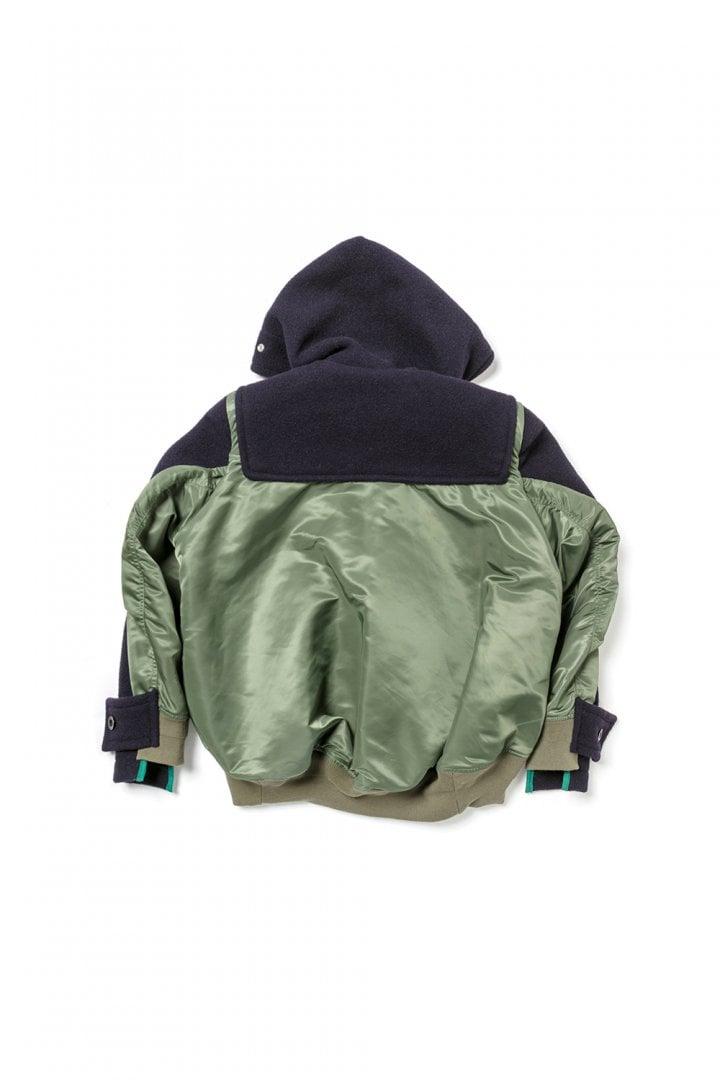 # sacai × Gloverall:牛角扣大衣+MA-1!運用解構美學重新詮釋冬季保暖服 10