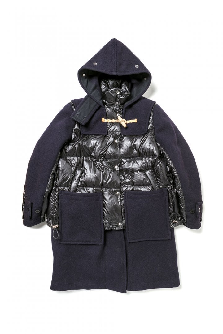 # sacai × Gloverall:牛角扣大衣+MA-1!運用解構美學重新詮釋冬季保暖服 6