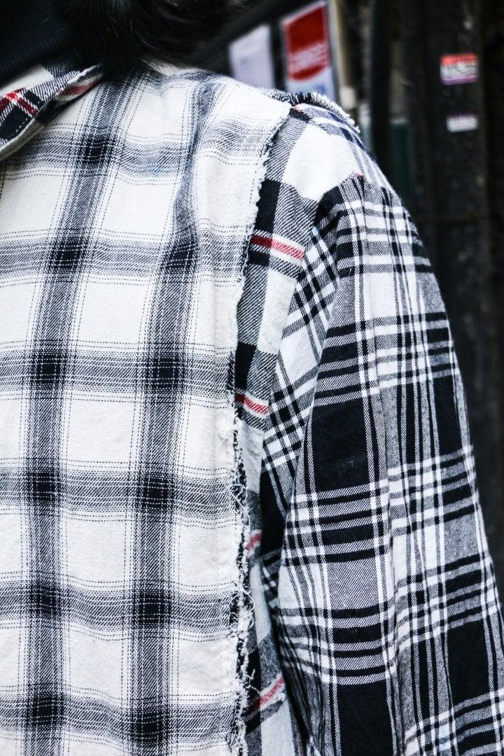 # Shop Staff Snap:一件拼接解構為基底的襯衫,穿出古著格紋的破壞美學 5
