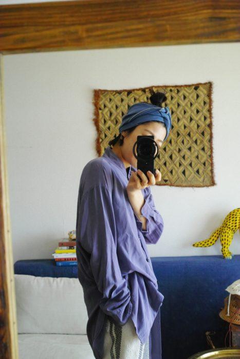 (Style-3) 褲子一樣是 FUMIKA_UCHIDA,材質是蠶絲亞麻混紡,至於頭飾也是亞麻混紡,這樣搭配是不是超帥的!