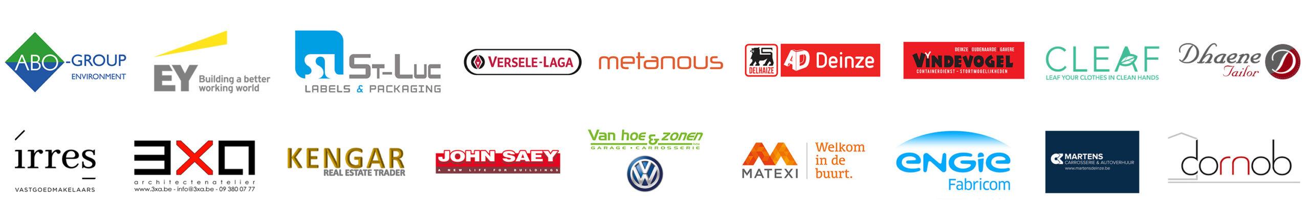 Lijst met sponsors van het evenement.