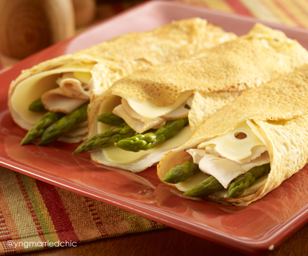 Savory crepes make a great Conference supper.