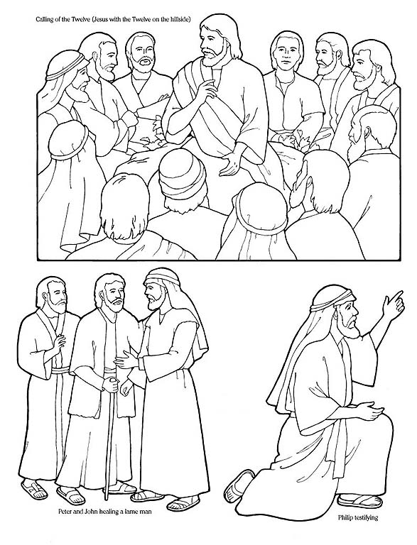 Peter And John Heal A Lame Man Coloring Page Coloring Pages