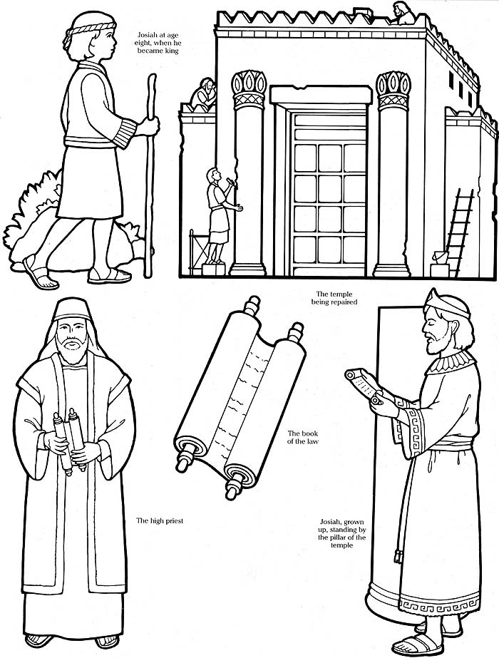 Solomons Temple Coloring Paper Coloring Pages
