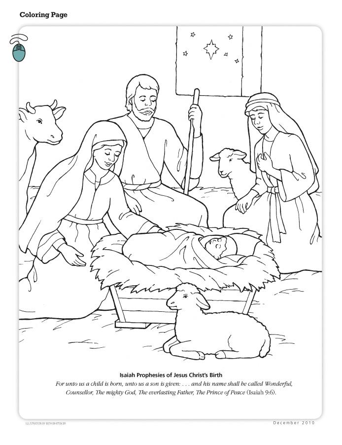 Jesus Birth Coloring Page : jesus, birth, coloring, Coloring
