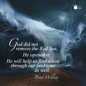 God didn't remove the red sea - He parted it. He may not remove our weakness but rather help us overcome it through grace.
