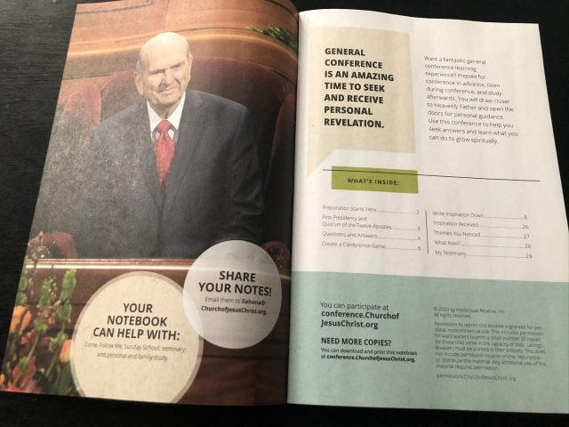 general conference notebook april  helps members