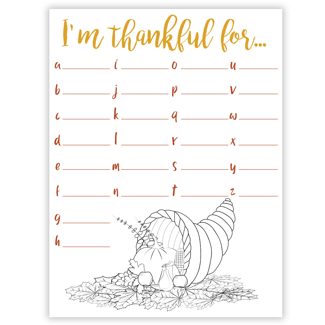This Free Gratitude Worksheet Is Perfect For Thanksgiving