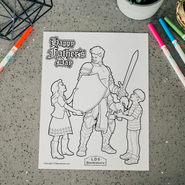 Armour of God Father's Day Coloring Page - Printable