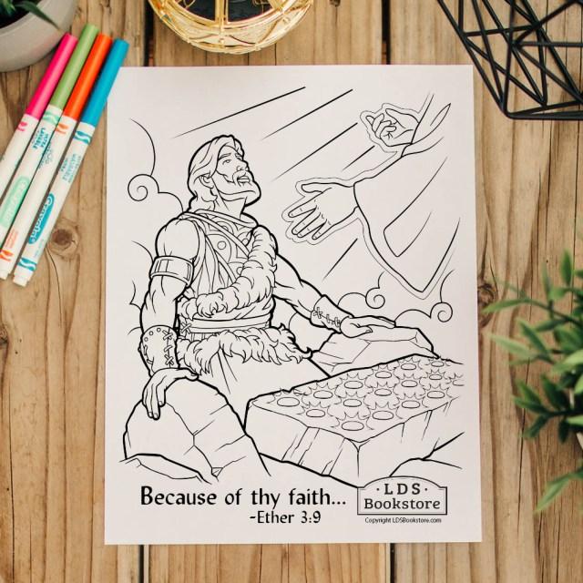 Because of Thy Faith Brother of Jared Coloring Page - Printable