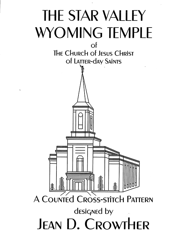 Star Valley Wyoming Temple (Cross Stitch Pattern