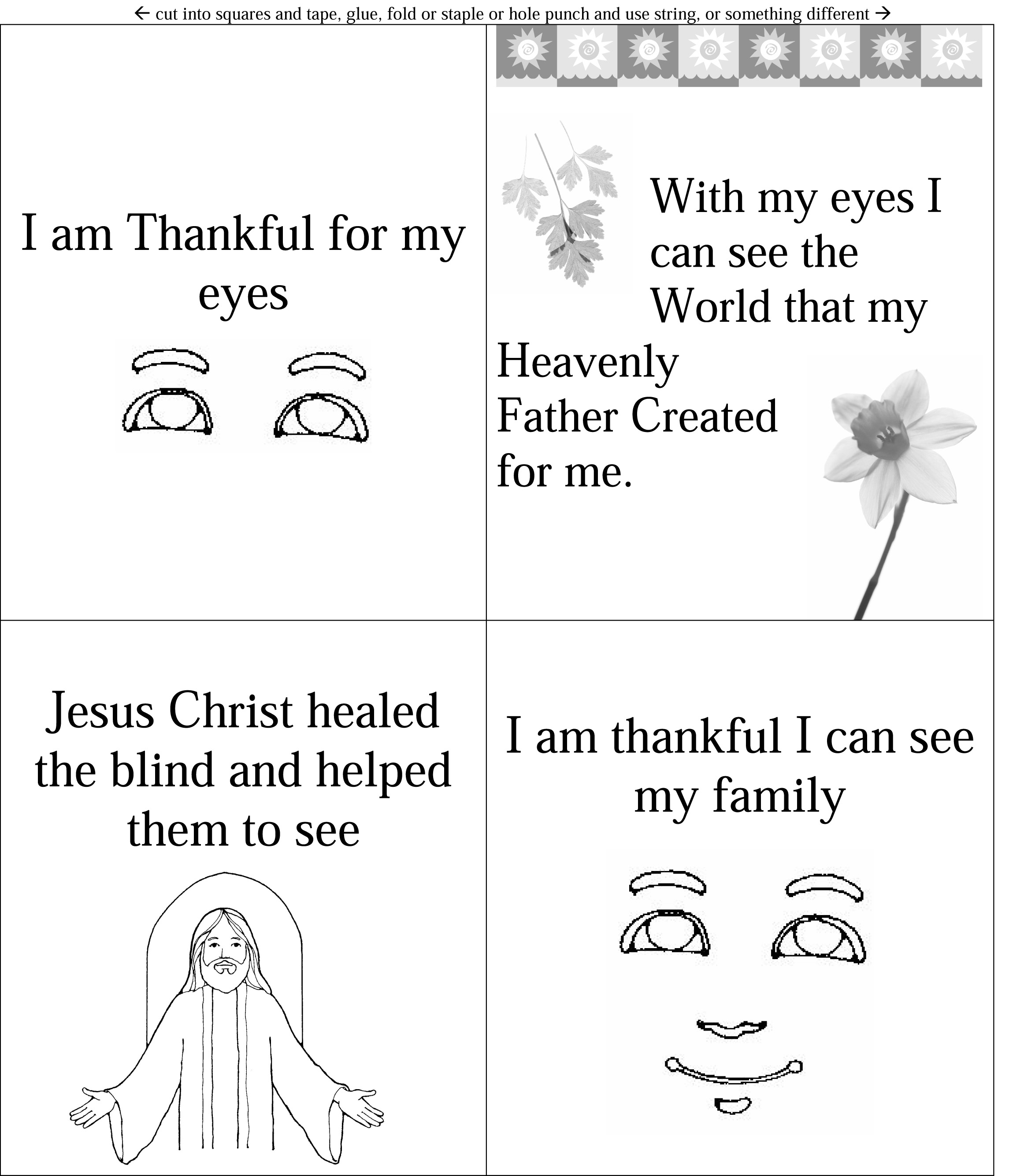Lesson 19 I Am Thankful For My Eyes