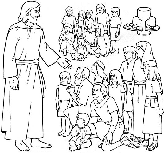 Free jesus blessing the children coloring pages