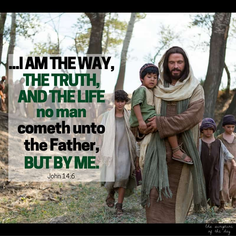 Jesus saith unto him, I am the way, the truth, and the life: no man cometh unto the Father, but by me. John 14:6