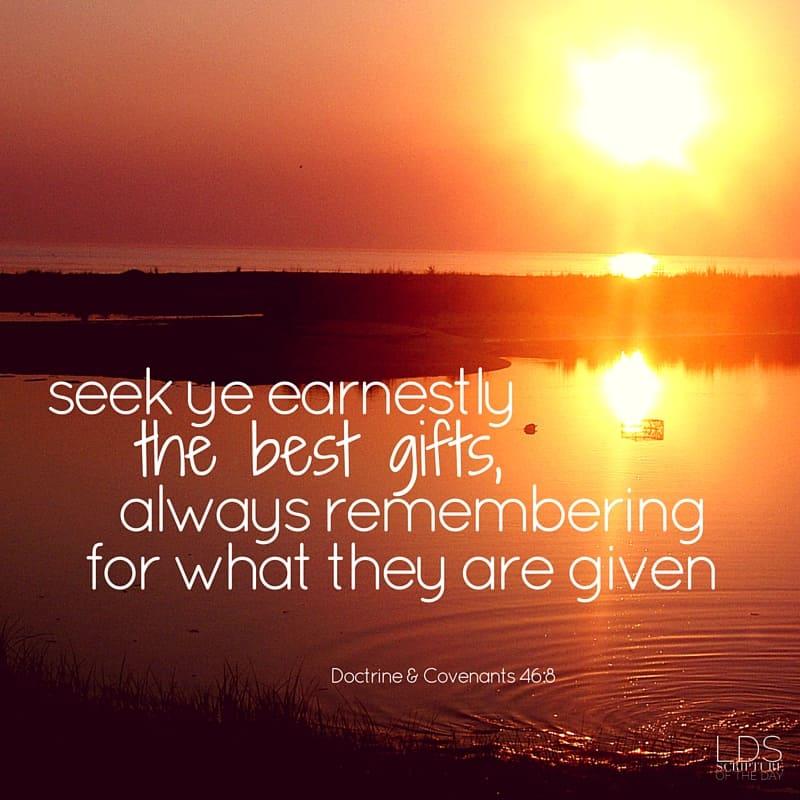 Doctrine & Covenants 46:8