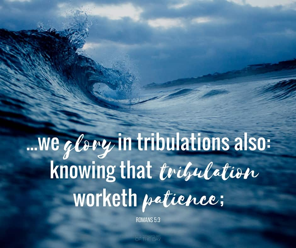 ...we glory in tribulations also: knowing that tribulation worketh patience; Romans 5:3 Read in scriptures: http://bit.ly/26afOSM