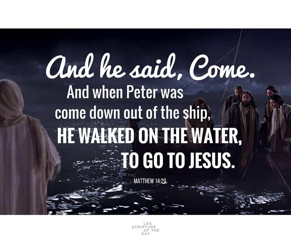 Matthew 14:27-29