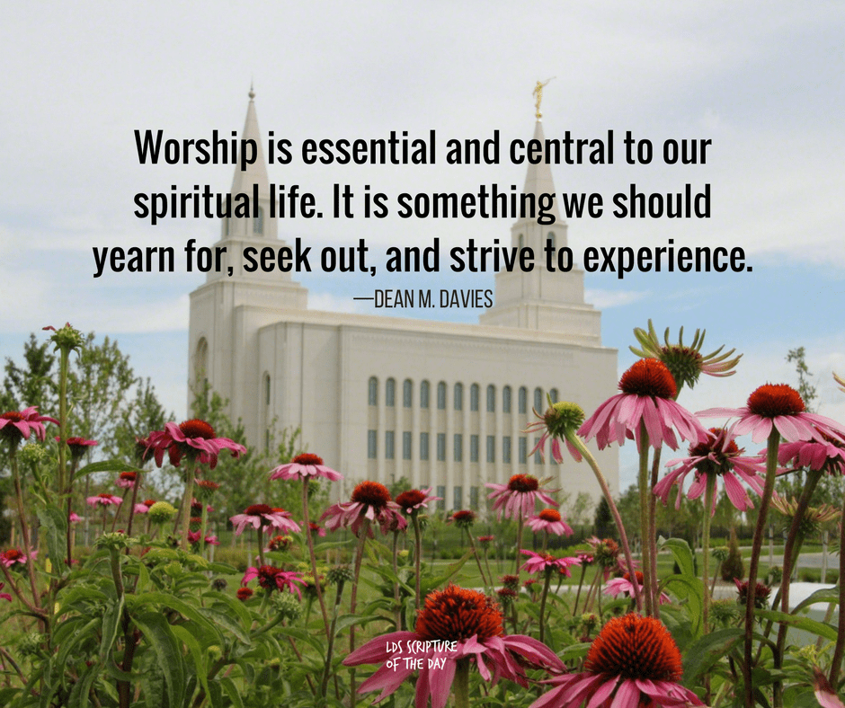 Worship is essential and central to our spiritual life