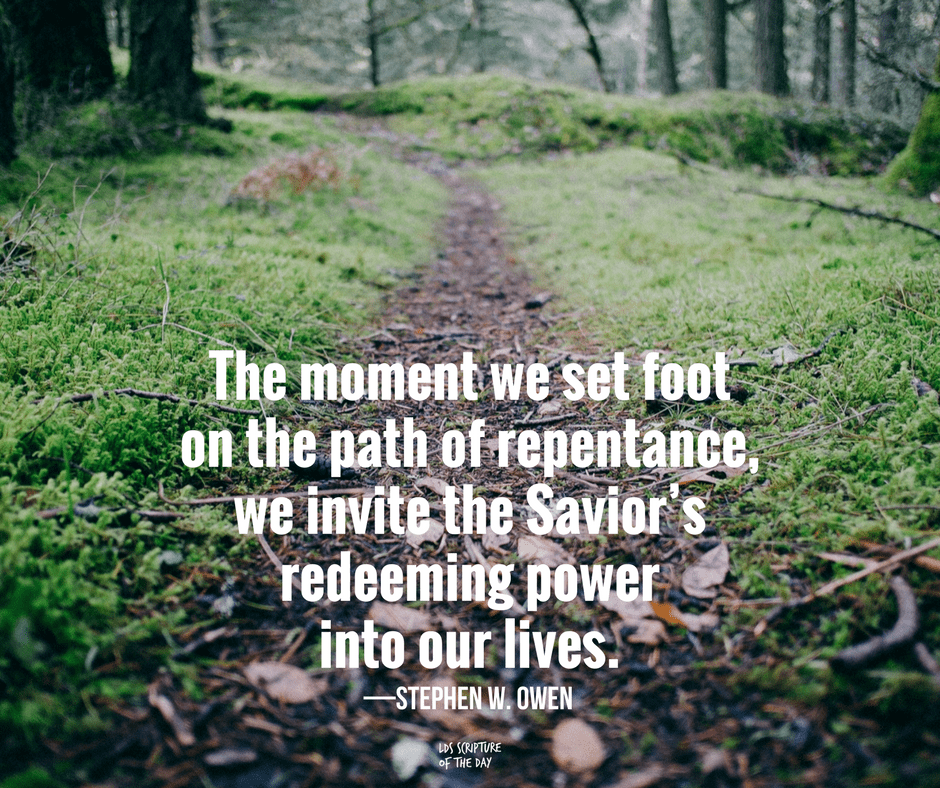 The moment we set foot on the path of repentance