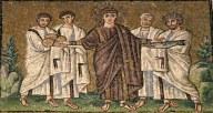 4 Apostles with gamma (square) marks on robes
