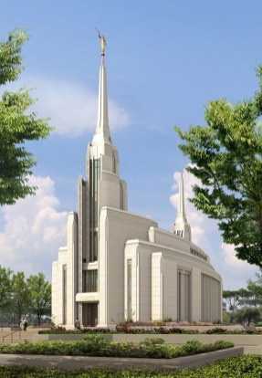 The new Rome temple features curved sides that imply the vesica piscis