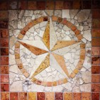 """The """"Lone Star"""" is a popular motif in Texas and is frequently featured as a star within a circle."""