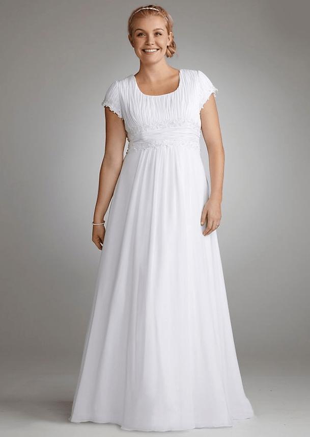 25 Modest Plus Size Wedding Dresses | LDS Wedding