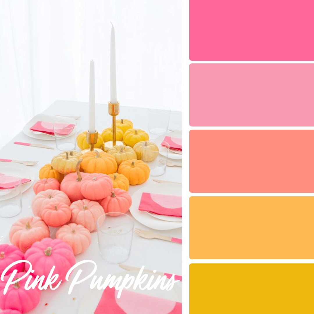 Pink Pumpkins - 25 Fall Wedding Colors Any Bride & Groom Will Love